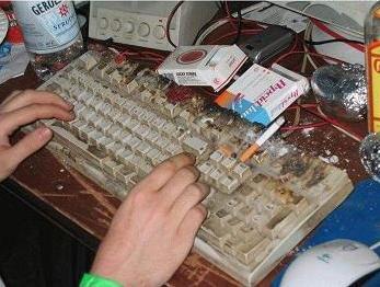 clavier très très sale