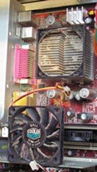 ventilateur CPU démonté sale