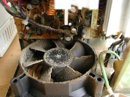 poussiere interieur ventilateur