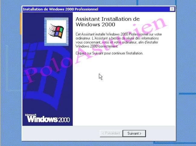 installation du 2000