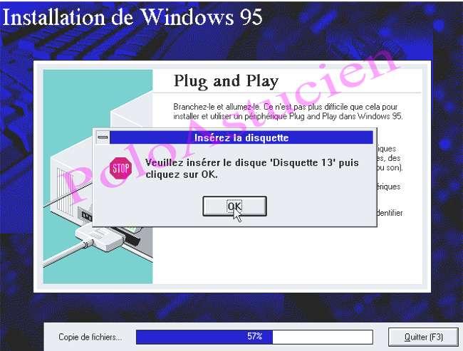 demande de disquette N° 13