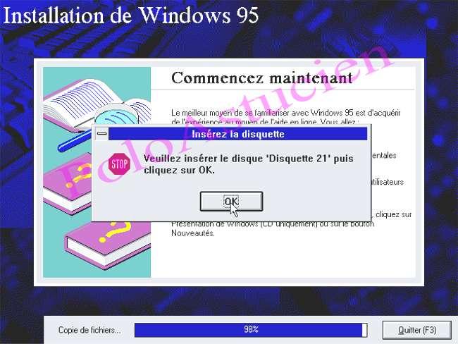 demande de disquette N° 21