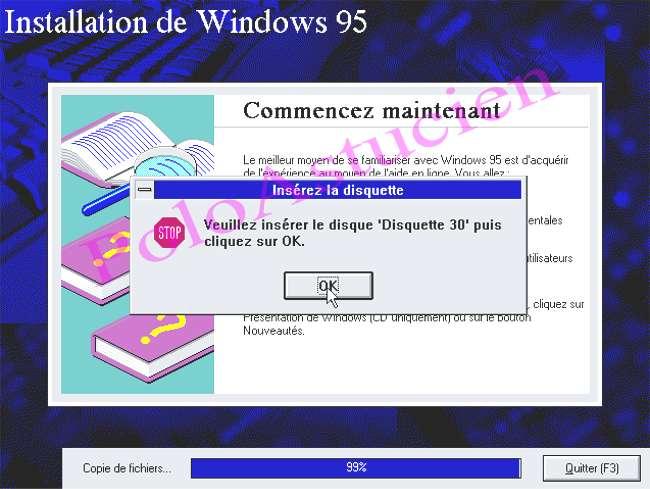 demande de disquette N° 30