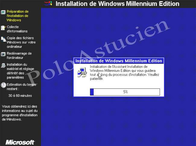 préparation install du windows