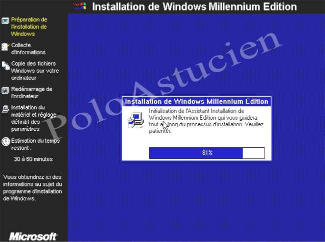 préparation install du windows