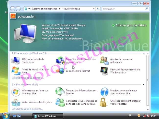 accueil windows basic
